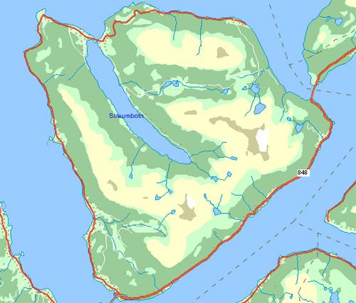 map of andørja