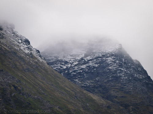 Picture of first snow in Ã…tinden - mountain in Northern Norway