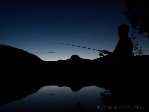 Picture of midnight fishing in Nordmarka - Oslo