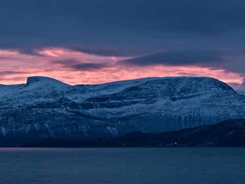 Bilde av mørketid solnedgang i Nord Norge